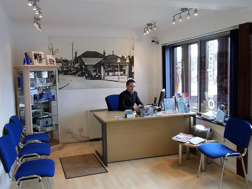 Footcare Clinic Coltishall reception